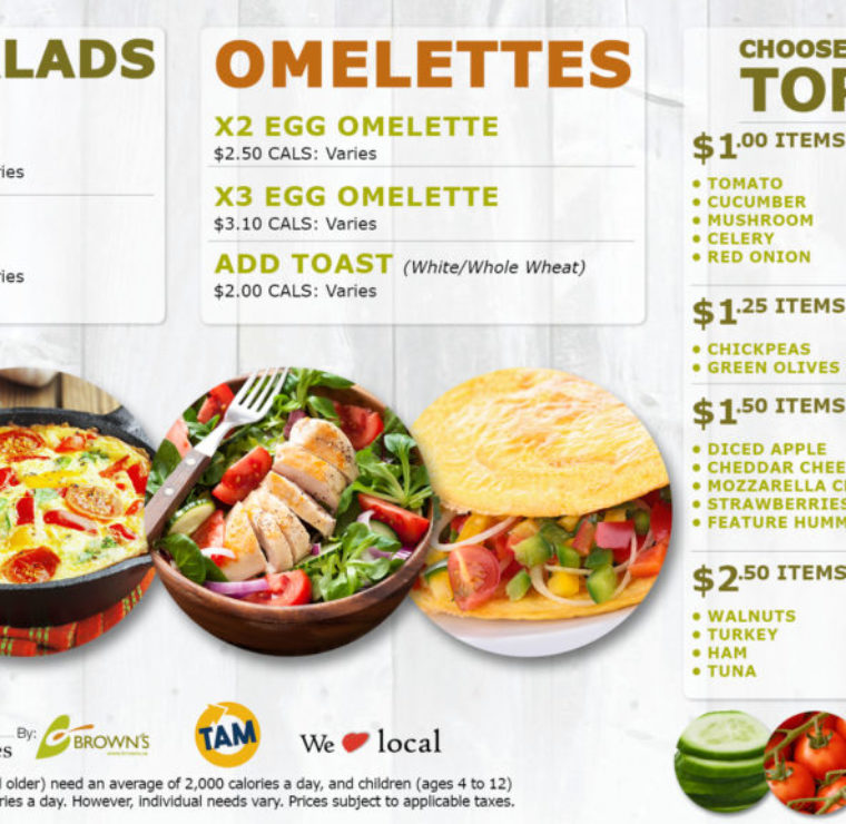 Market Street Salads and Omelettes